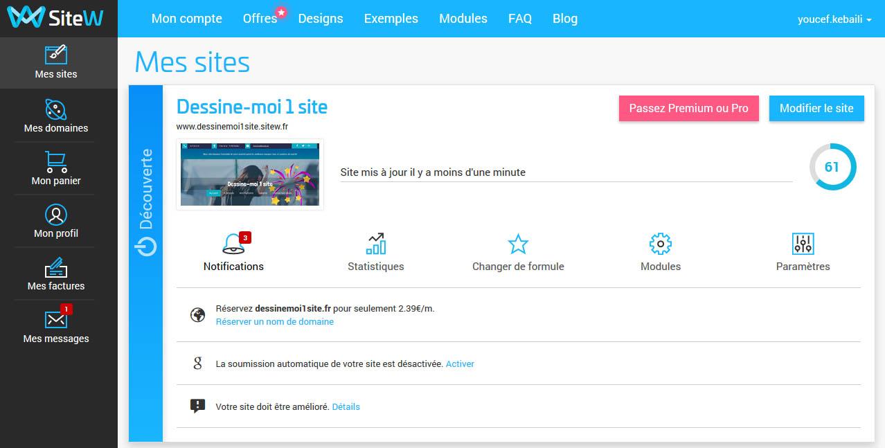 SiteW crear sitio web