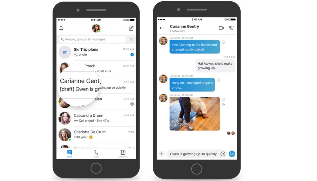 Skype añade funciones para gestionar los mensajes y compartir contenido