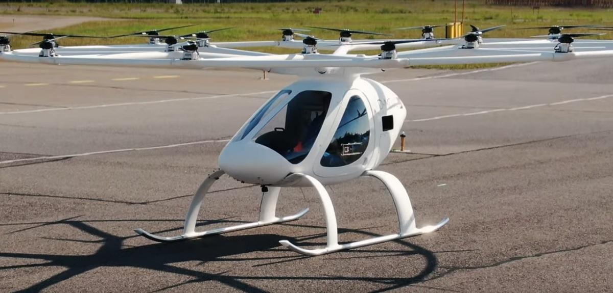 Vídeo del primer taxi volador en acción: el Volocopter X2