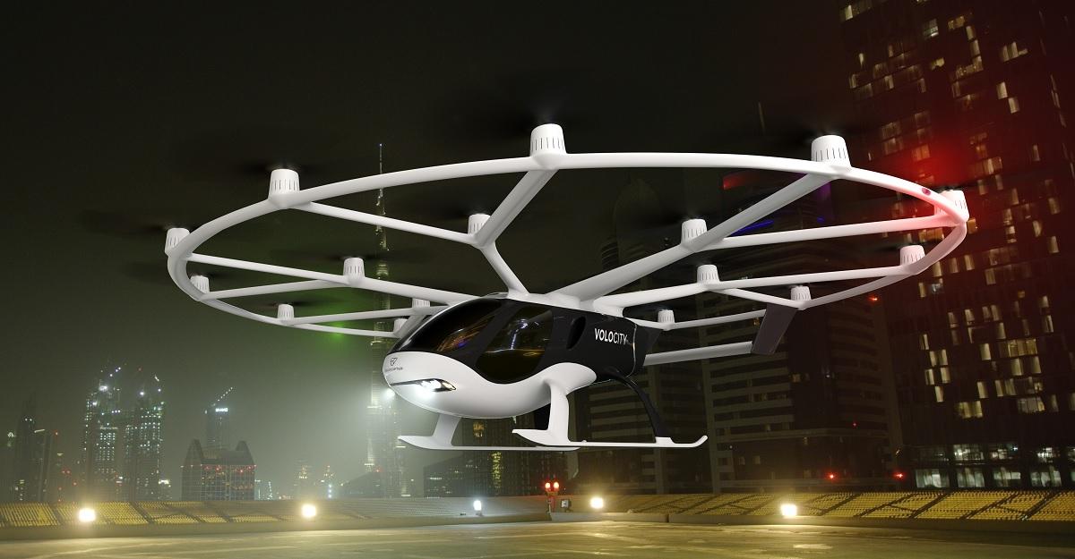 VoloCity, el primer avión comercial de Volocopter y que servirá como taxi aéreo este mismo año
