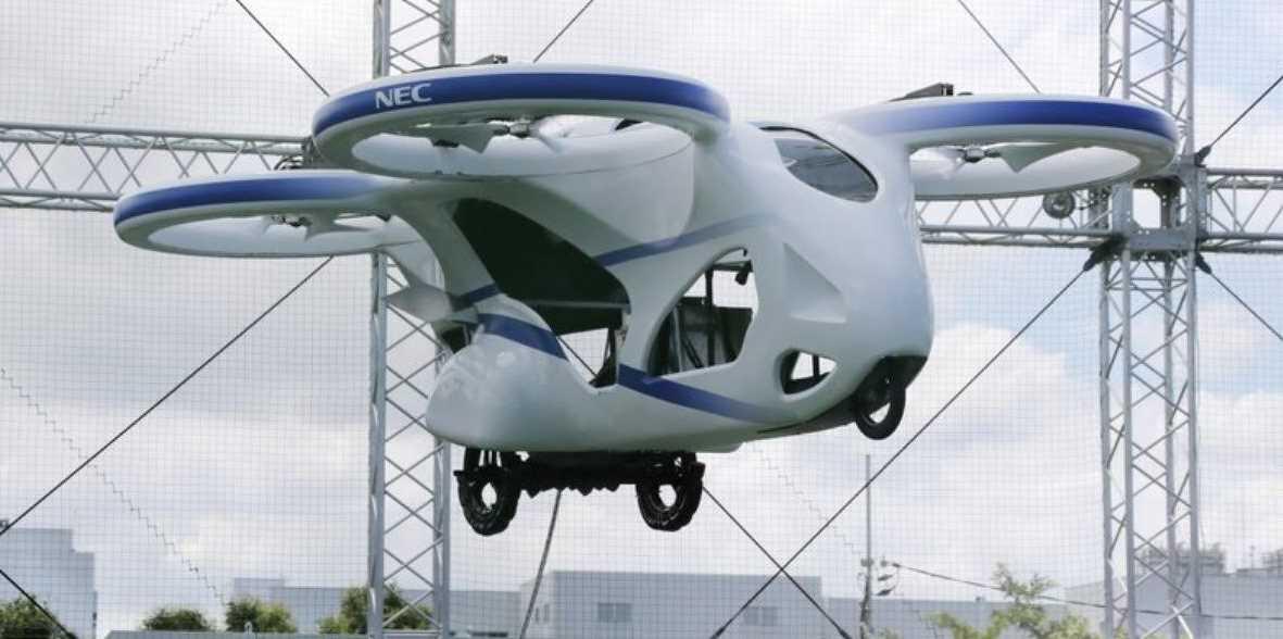 Japón puso a prueba con éxito su coche volador