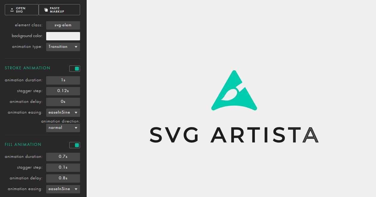 Una herramienta para crear animaciones con archivos SVG