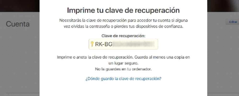 clave recuperación apple
