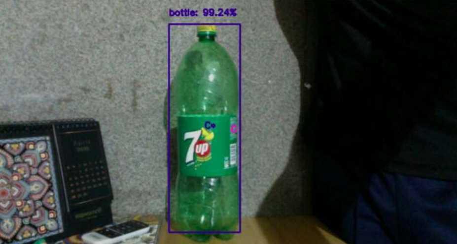 botella detectada