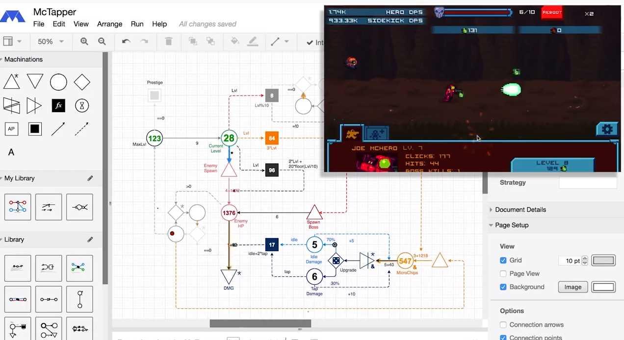 machinations, una plataforma para diseñar juegos de forma «sencilla»