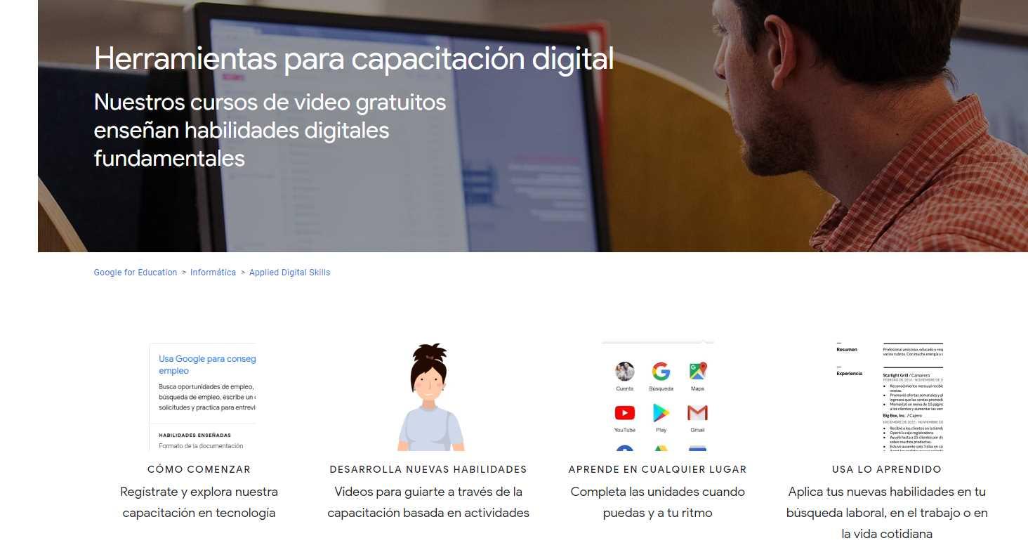 Google presenta recursos en español para capacitación en tecnología digital