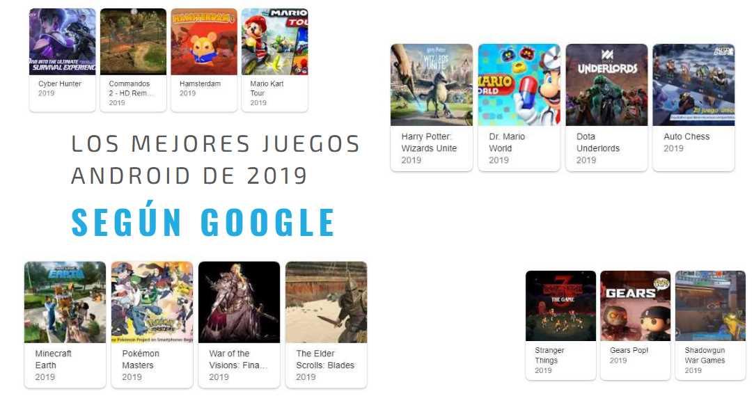 Los mejores juegos del 2019 para Android según Google