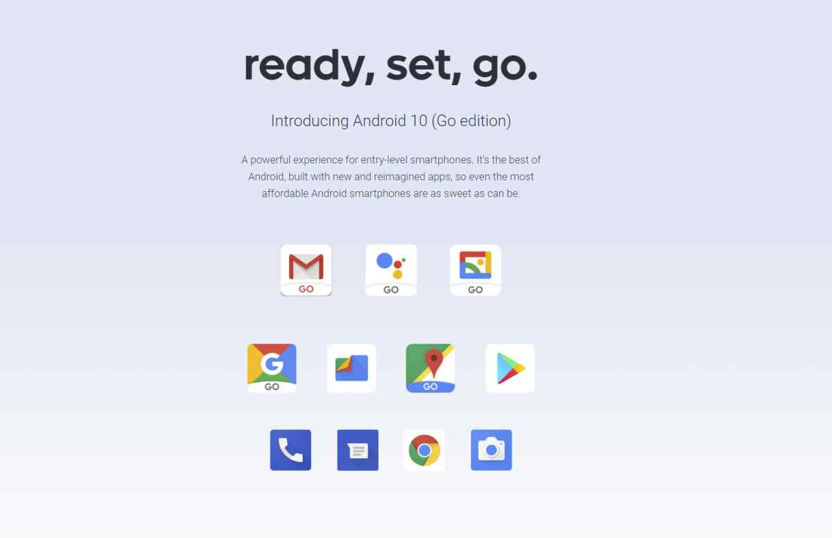 La nueva versión de Android Go, Android 10 Go Edition, ofrecerá más rapidez y seguridad para todos