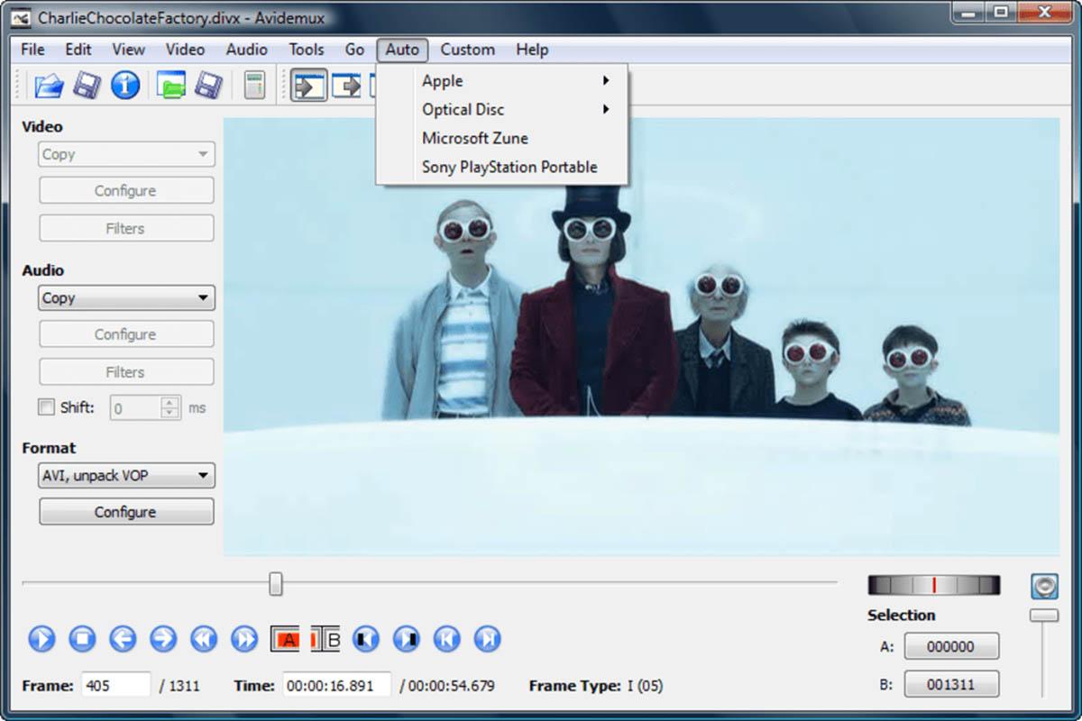 Avidemux editor de video
