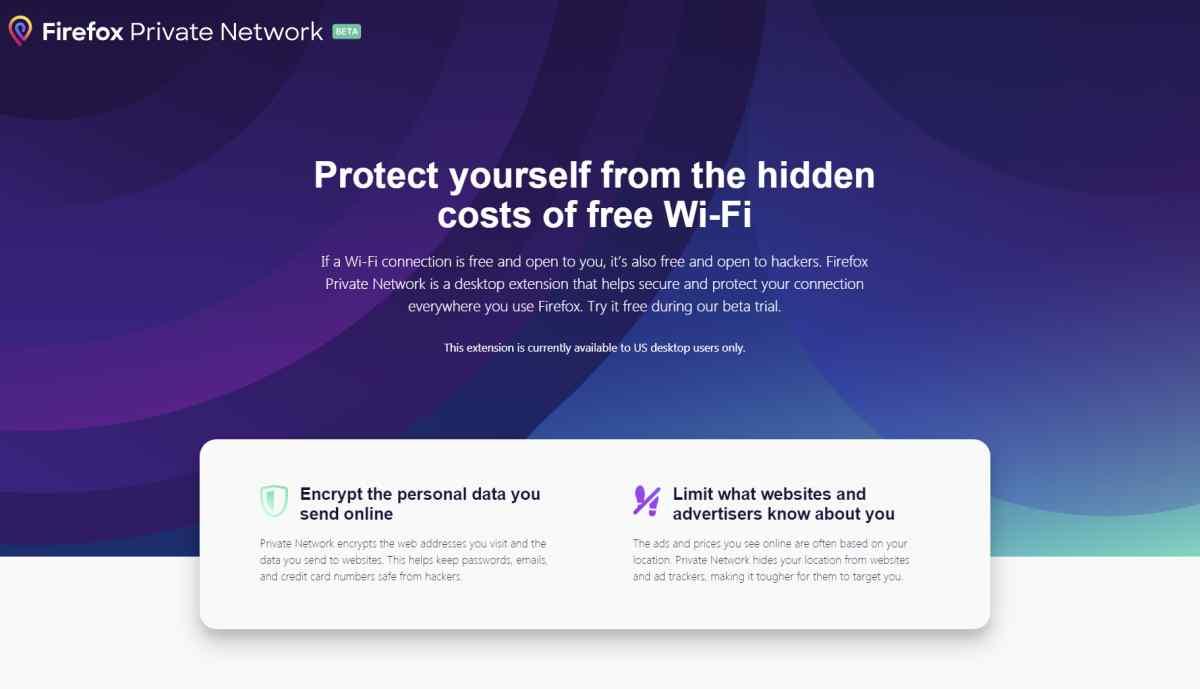 Firefox comienza a probar su nueva característica de privacidad entre usuarios de Estados Unidos