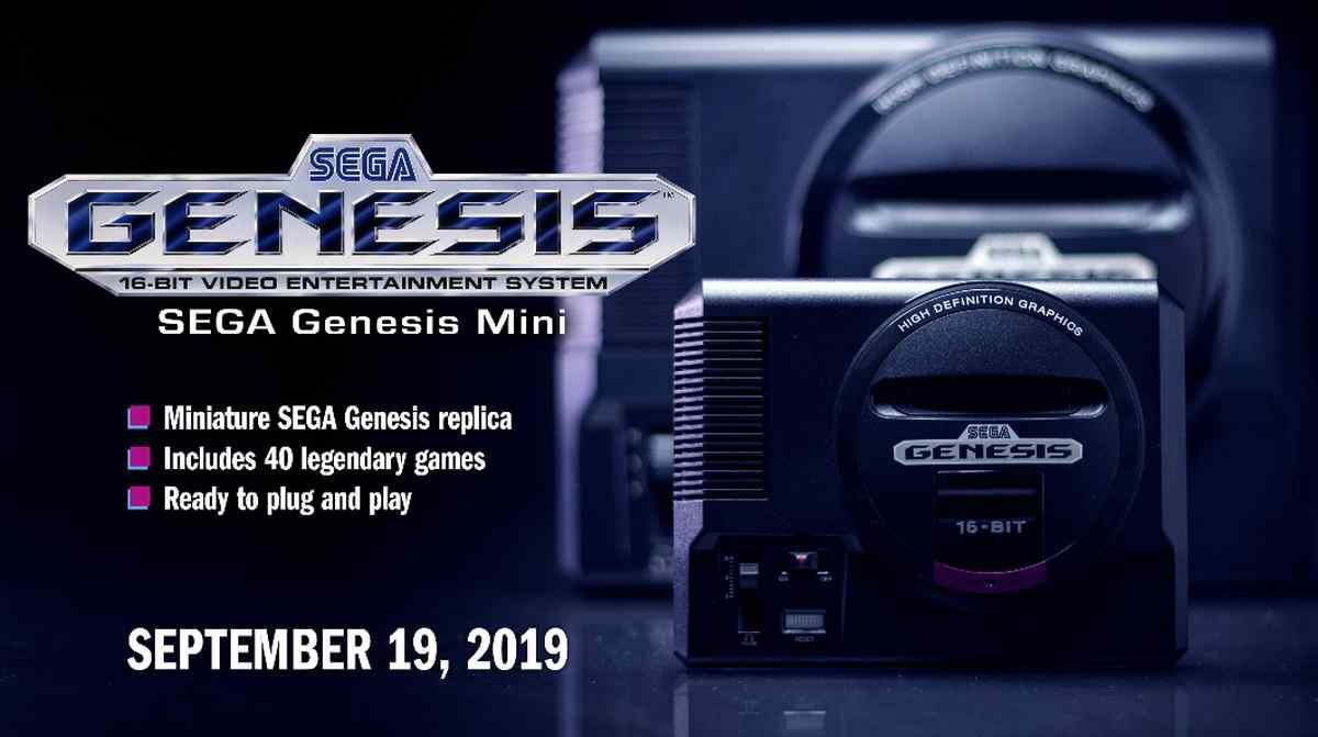 Sega lanzará una réplica pequeña de su mítica consola Genesis, con 42 juegos clásicos de 16 bits