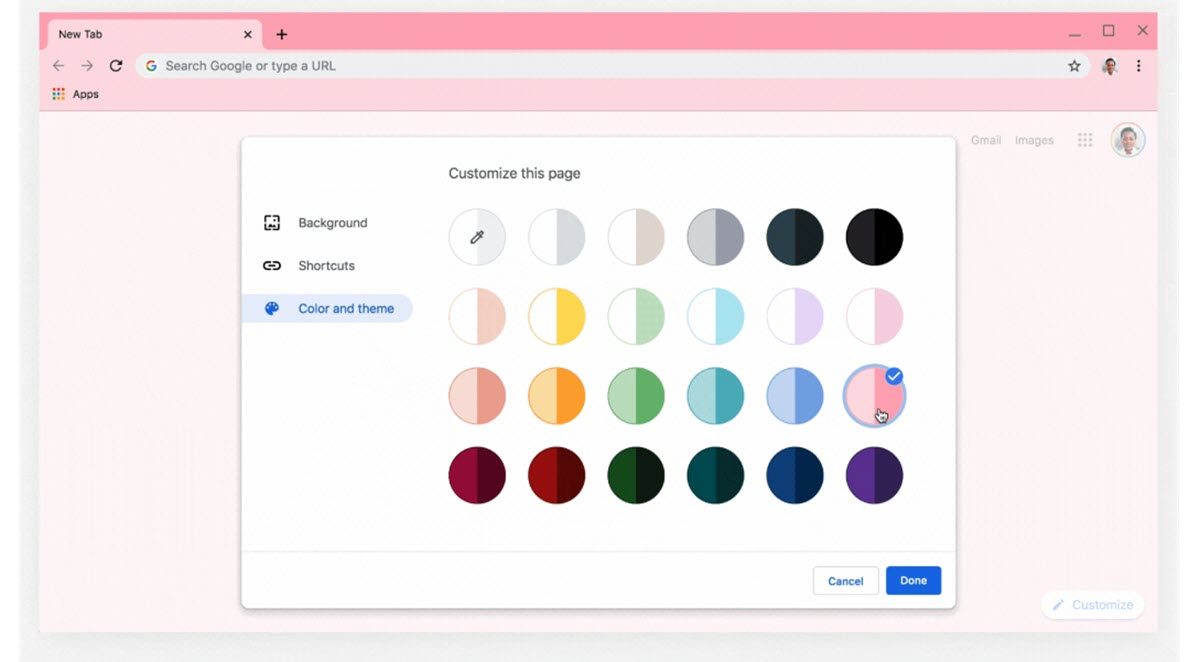 Más opciones para personalizar la apariencia de Google Chrome
