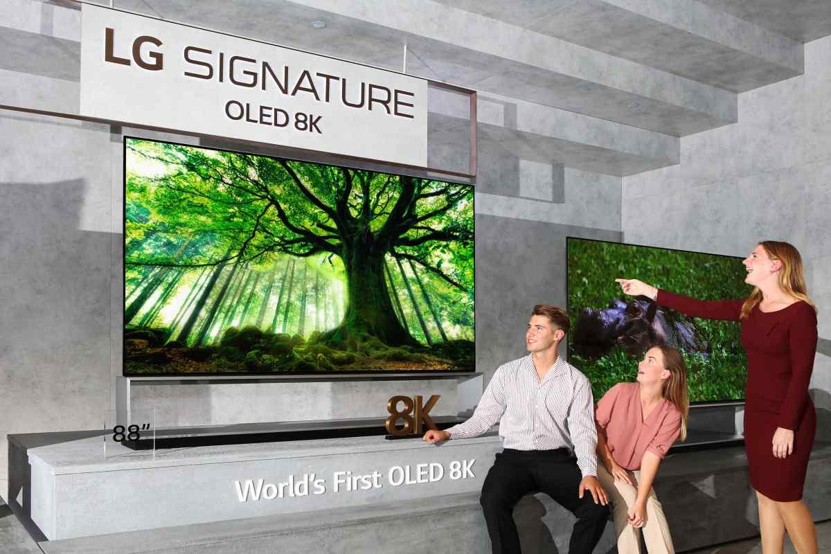 LG comienza el lanzamiento del primer televisor 8K del mundo, con pantalla OLED 8K de 88 pulgadas