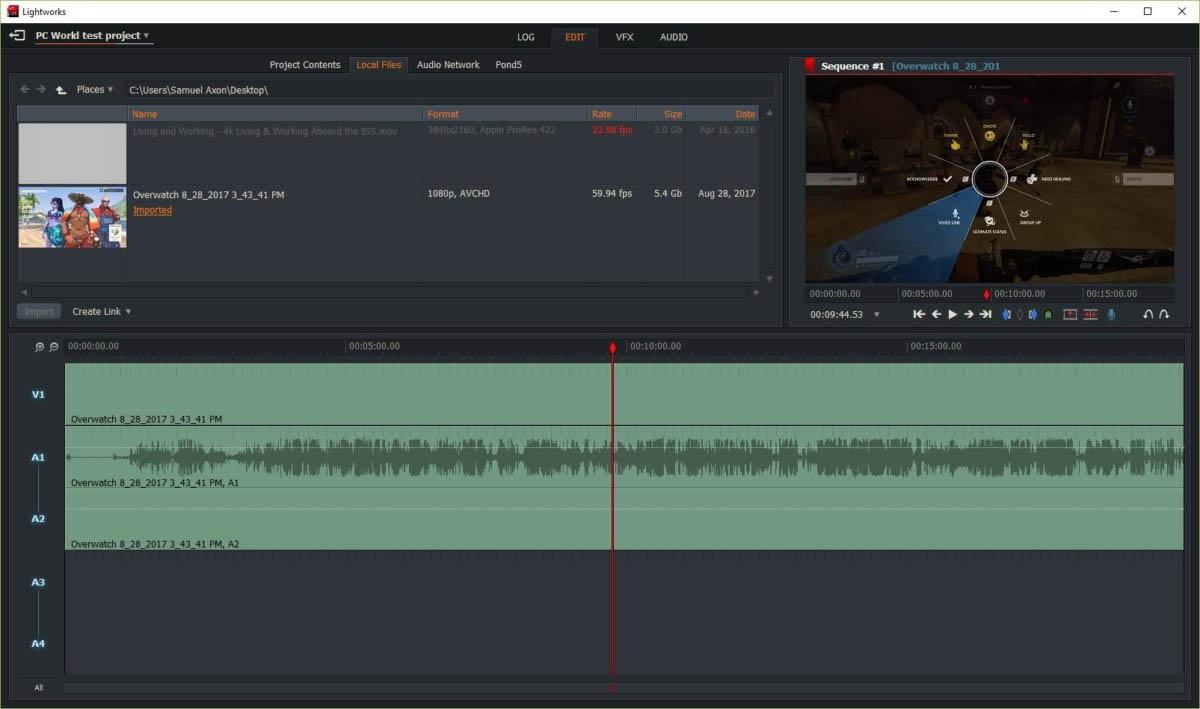 Lightworks editor de videos
