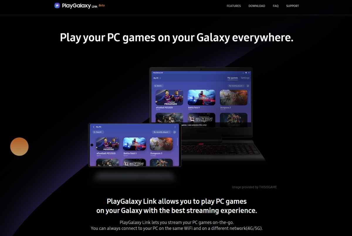 Samsung lanza las aplicaciones de su nuevo servicio de transmisión de juegos de PC a dispositivos Galaxy