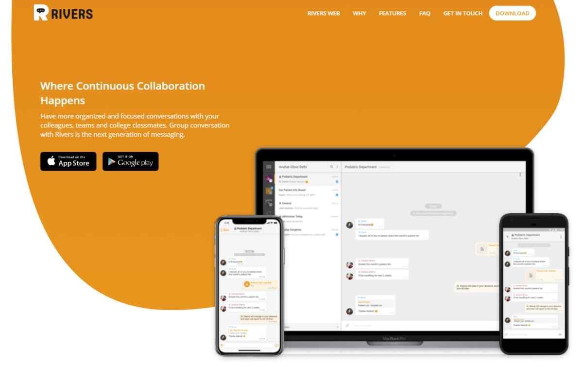 Rivers, un rival para Slack y WhatsApp para posibilitar la comunicación y colaboración en grupo