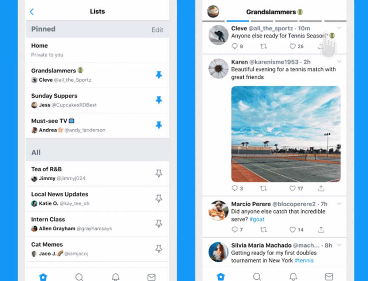Twitter tiene una nueva dinámica para mostrar las listas
