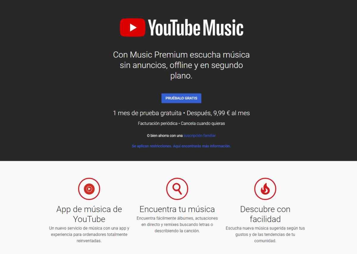YouTube Music vendrá preinstalado en los nuevos teléfonos con Android 10 en detrimento de Google Play Music