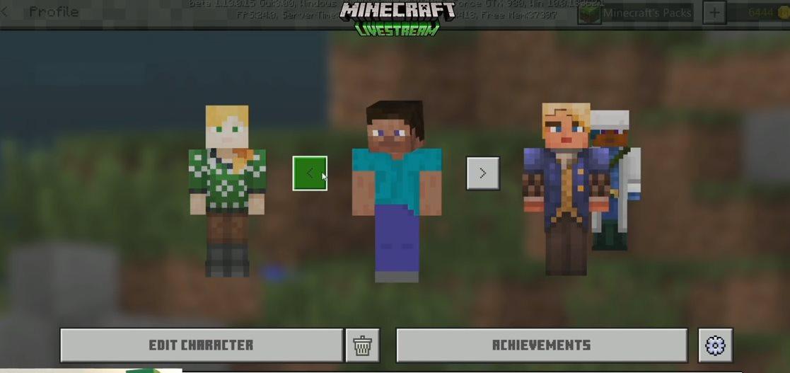 Minecraft añade sección de edición de personajes