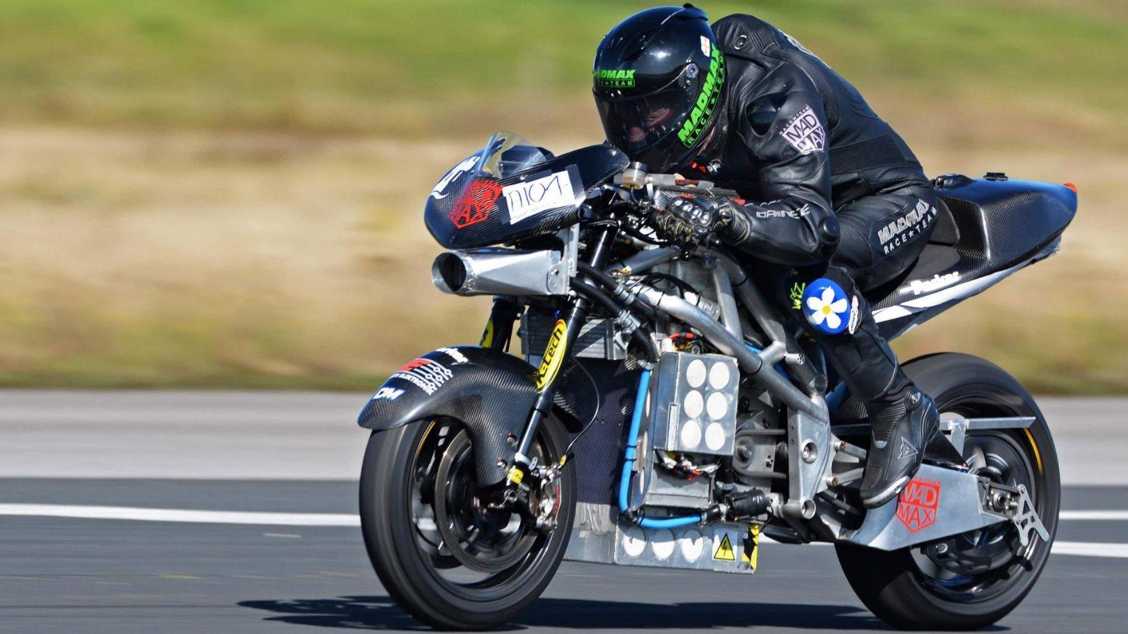 La moto eléctrica que superó los 300 km/h