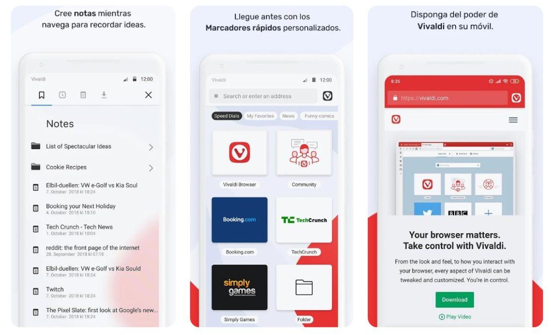 Vivaldi lanza su navegador como app android