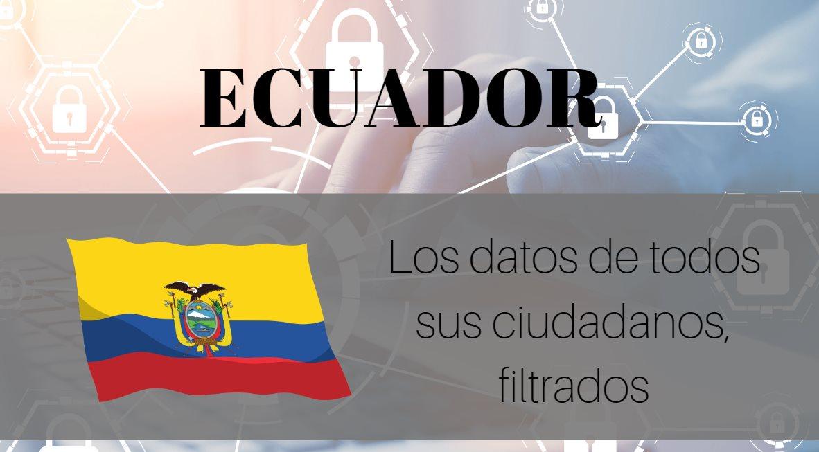 Ecuador investiga masiva filtración de datos personales de ciudadanos