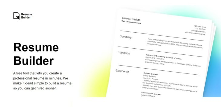 Nueva herramienta gratis para crear un currículo online