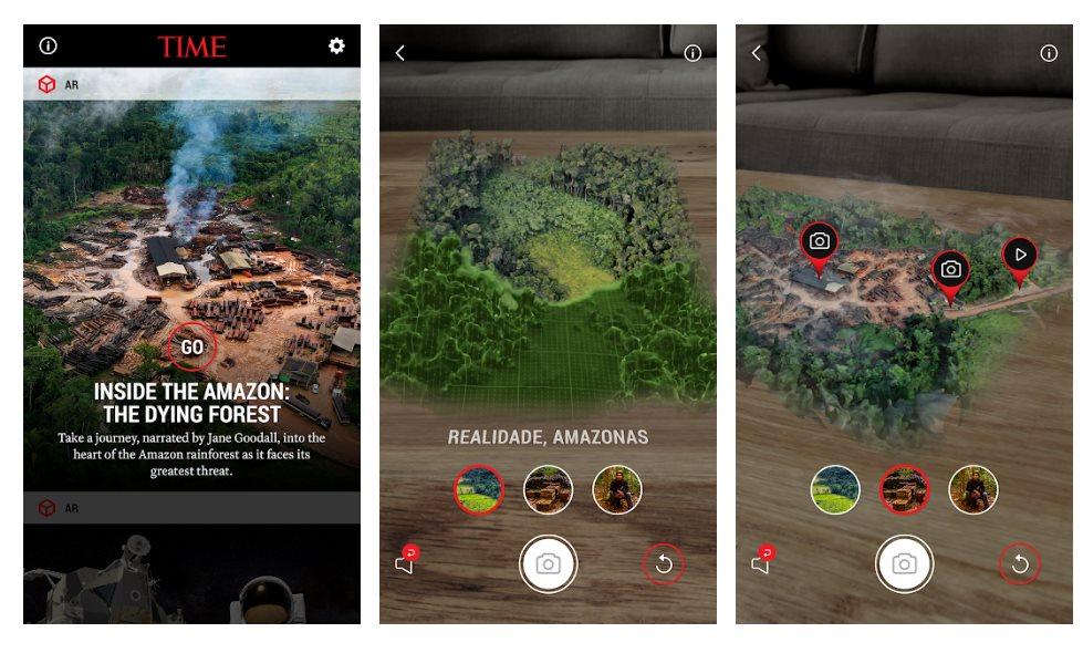 TIME publica app para ver los problemas de la selva amazónica con Realidad Aumentada