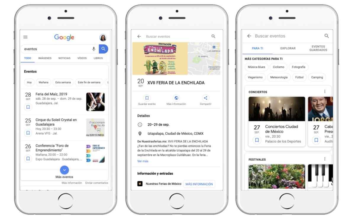 Google lleva las recomendaciones personalizadas de eventos a los usuarios de América Latina
