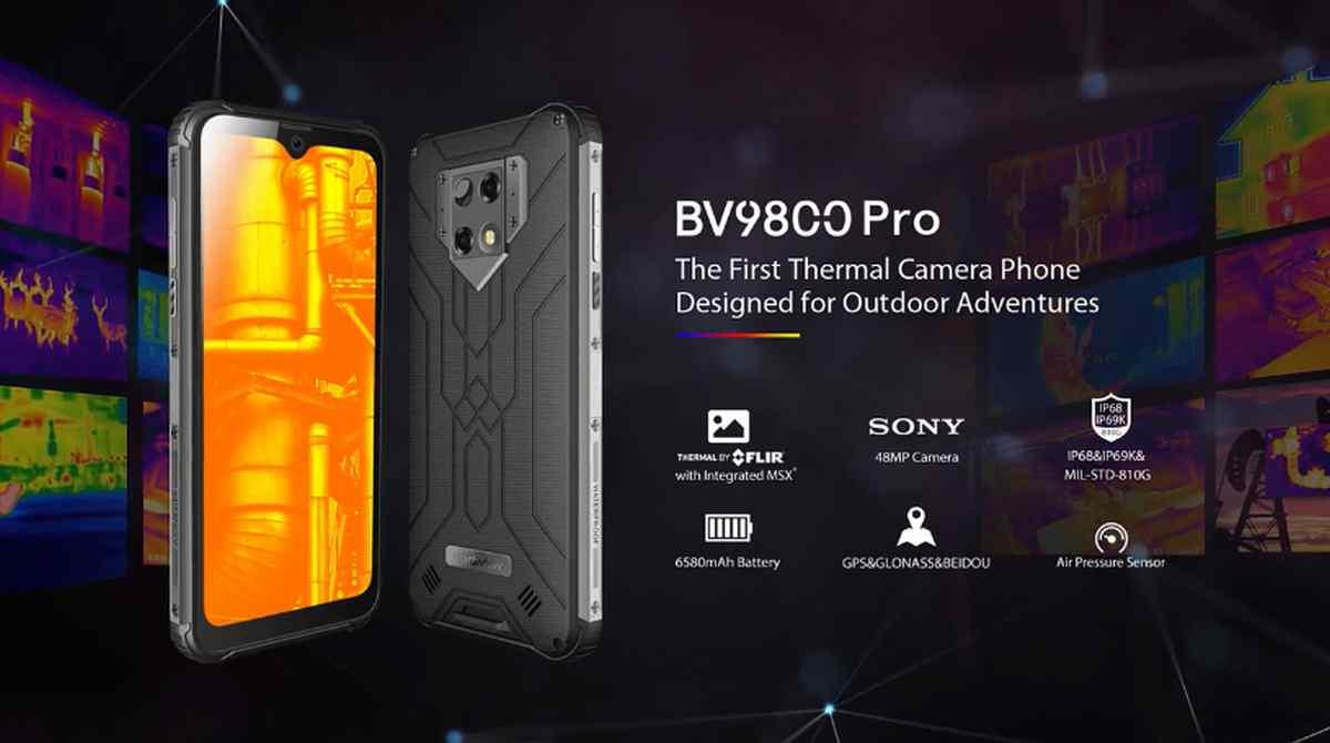 Blackview BV9800 Pro, el teléfono rugerizado con cámara térmica integrada que busca financiación en Kickstarter
