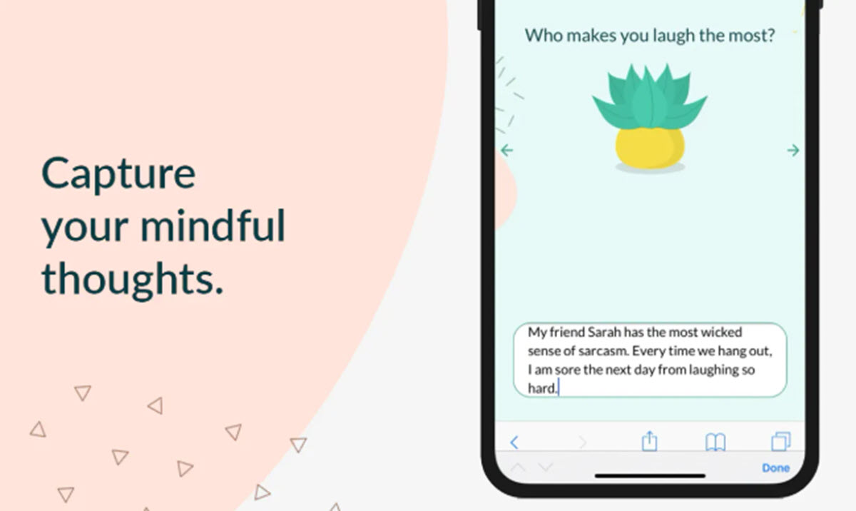 Una aplicación que combina ejercicios de Mindfulnes con un diario personal