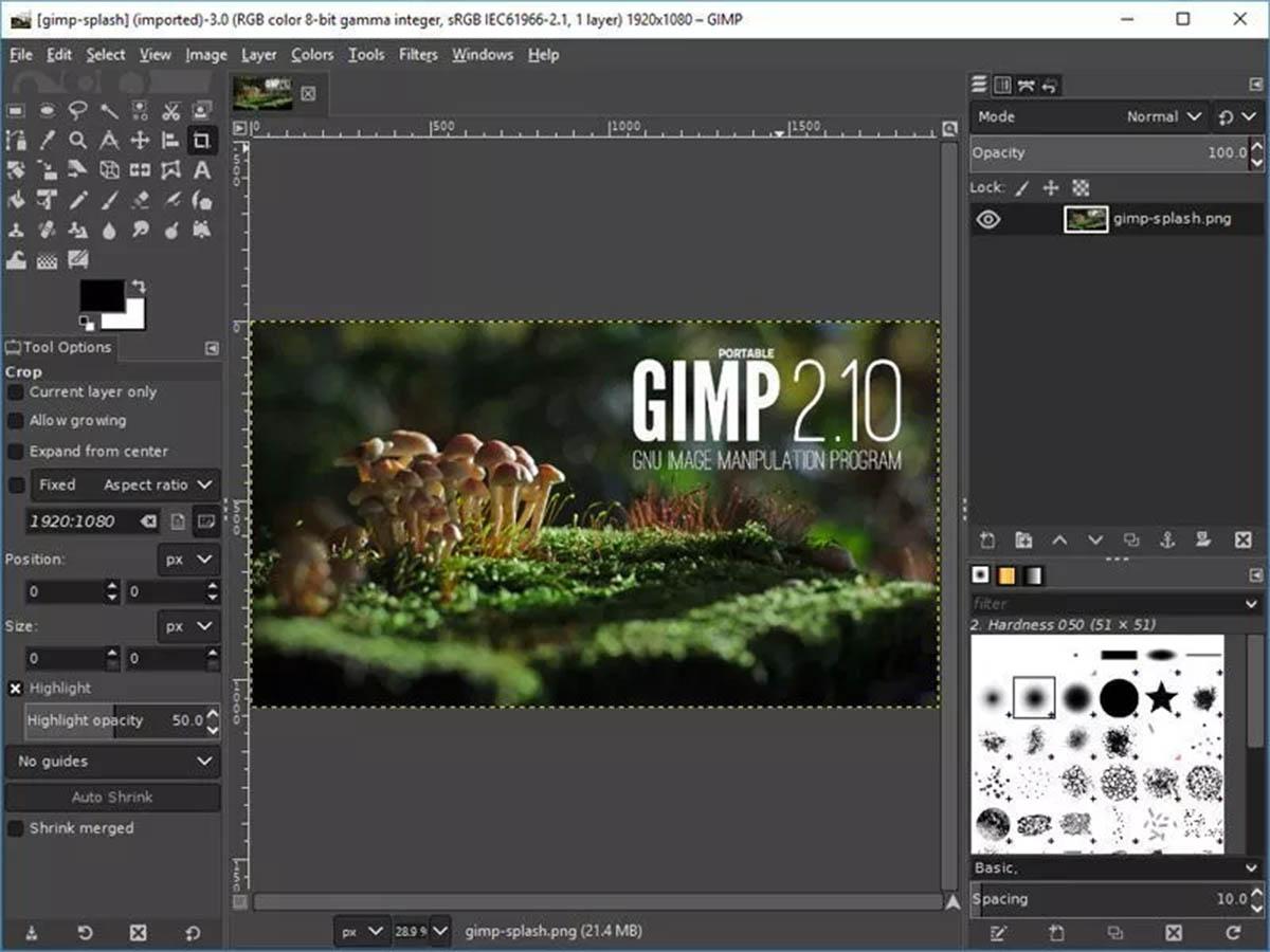 GIMP capturas
