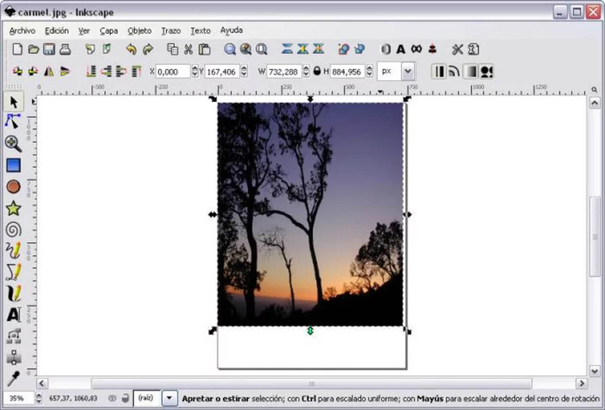 Inkscape capturas