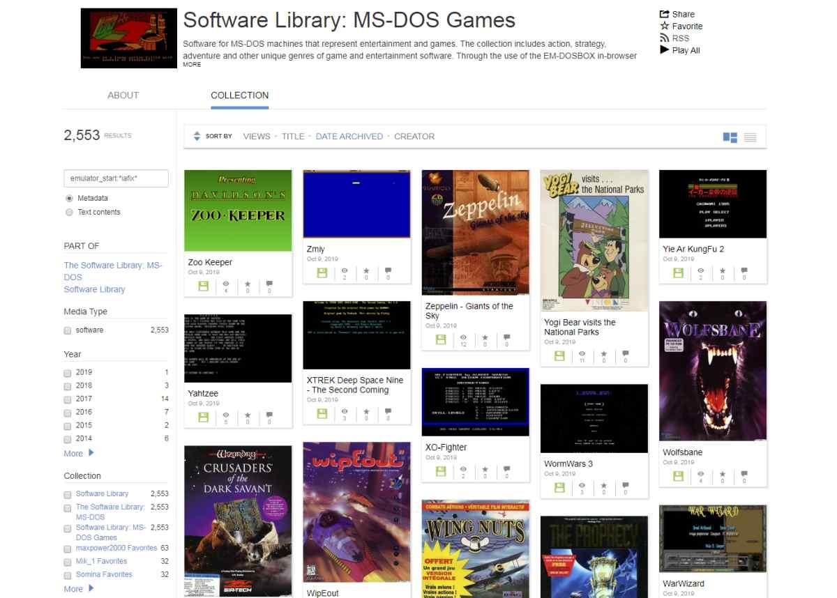 Internet Archive amplia su colección de juegos de MS-DOS con más de 2.500 títulos