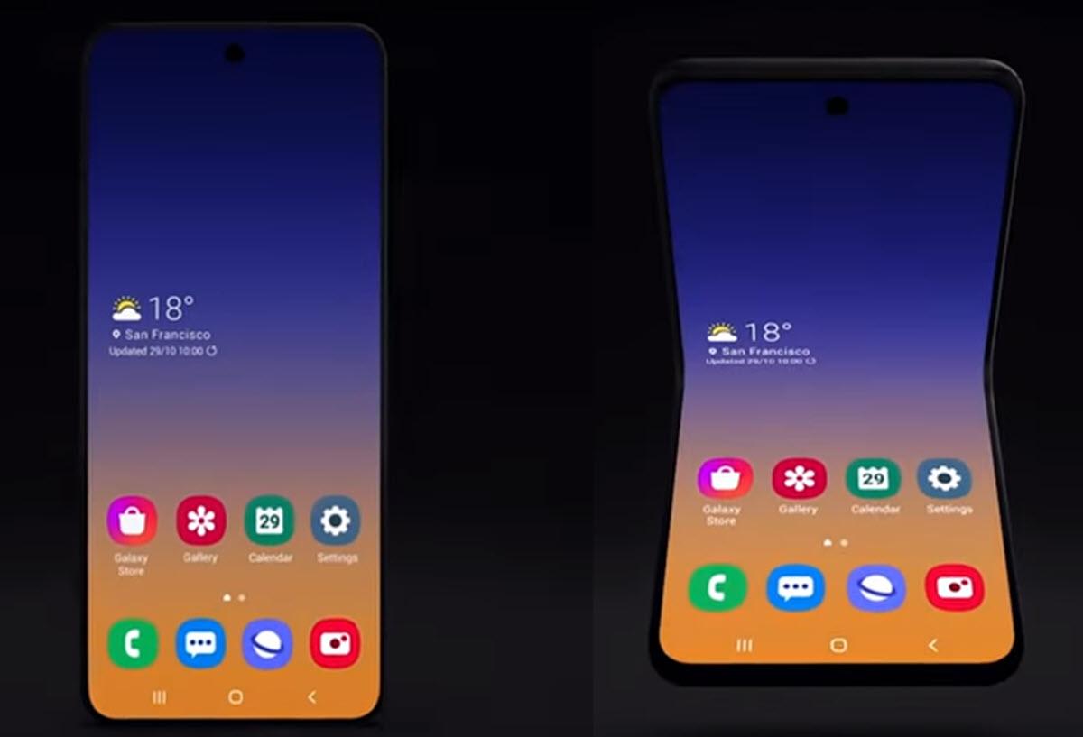 Samsung presenta su nuevo concepto de móvil con pantalla plegable