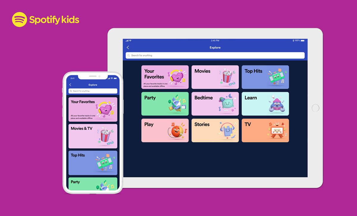 Spotify lanza una app para niños con historias y canciones seleccionadas