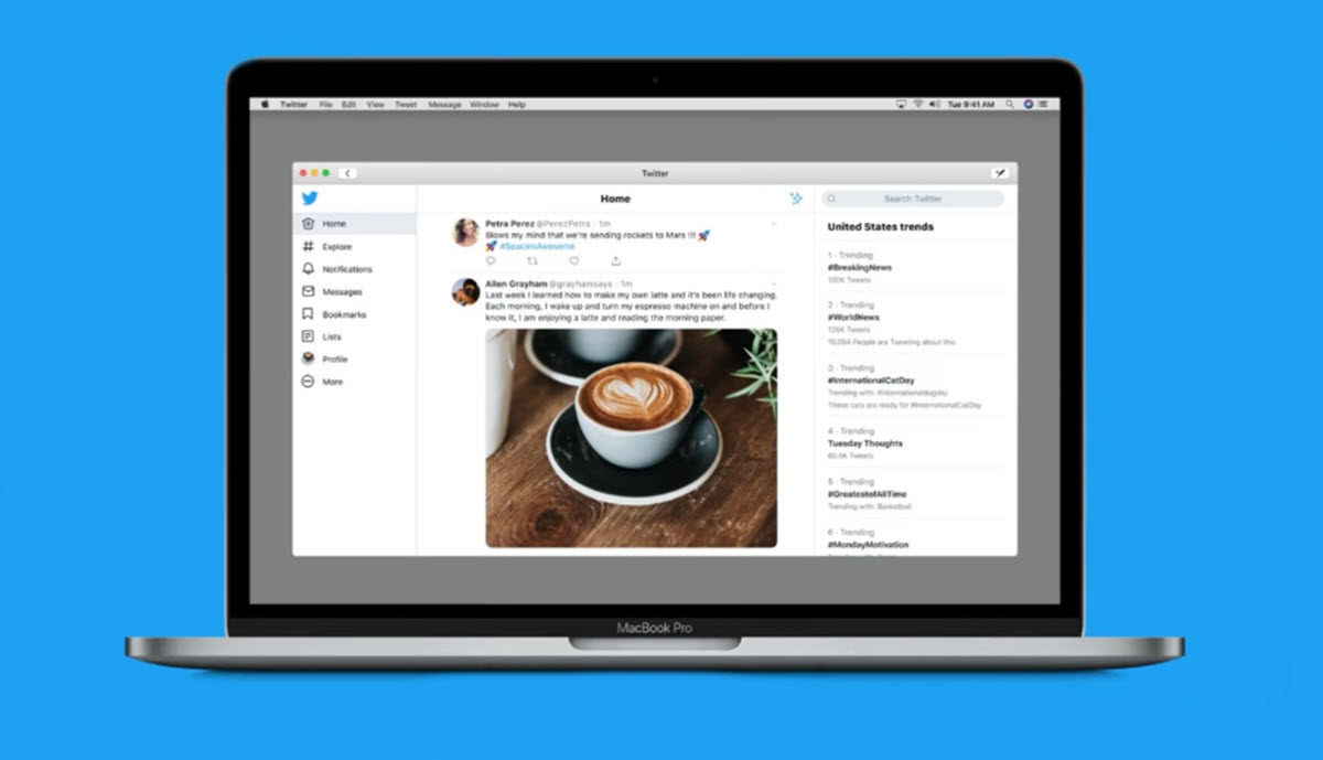Twitter ya está disponible para macOS Catalina