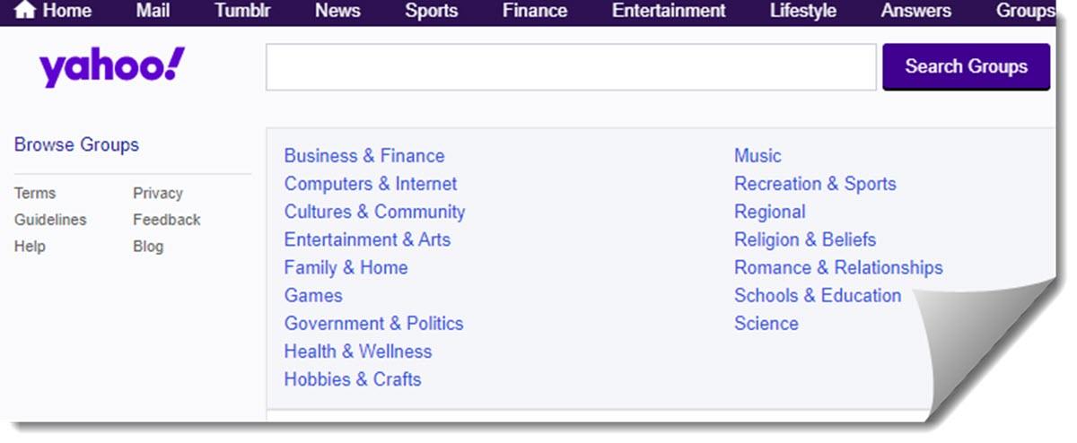 Yahoo eliminará todo el contenido de los Grupos