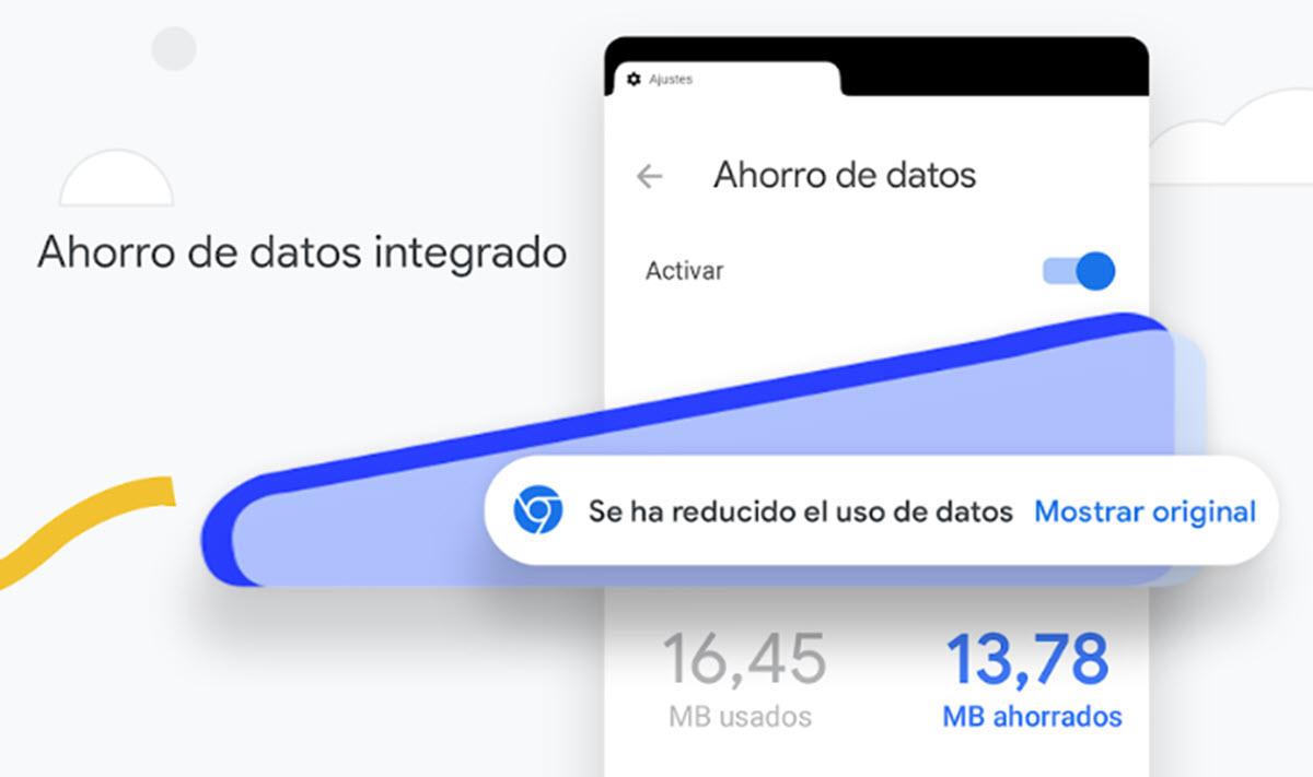 Chrome para Android tiene una nueva dinámica para el ahorro de datos