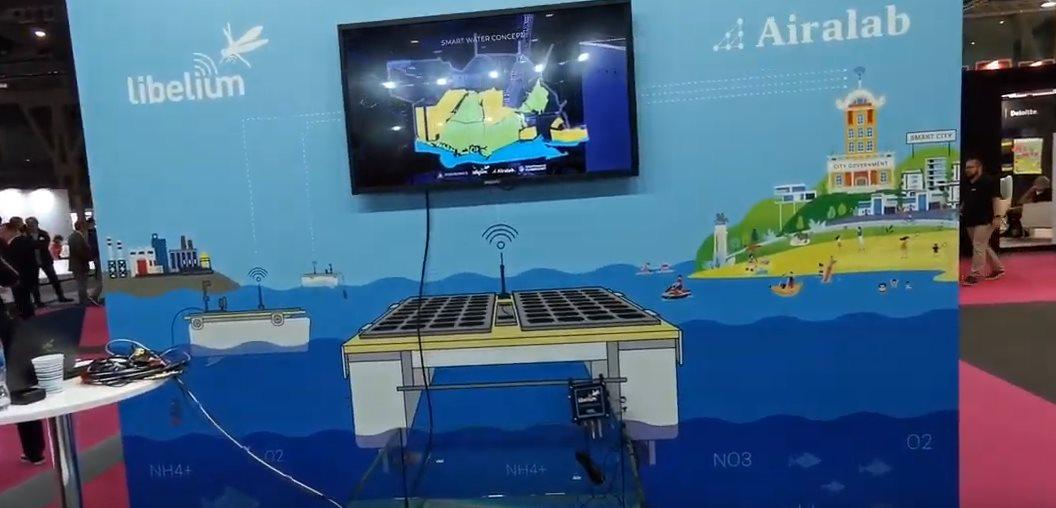 Vehículos solares midiendo la calidad del agua y drones que ayudan en los incendios #IOTSWC19