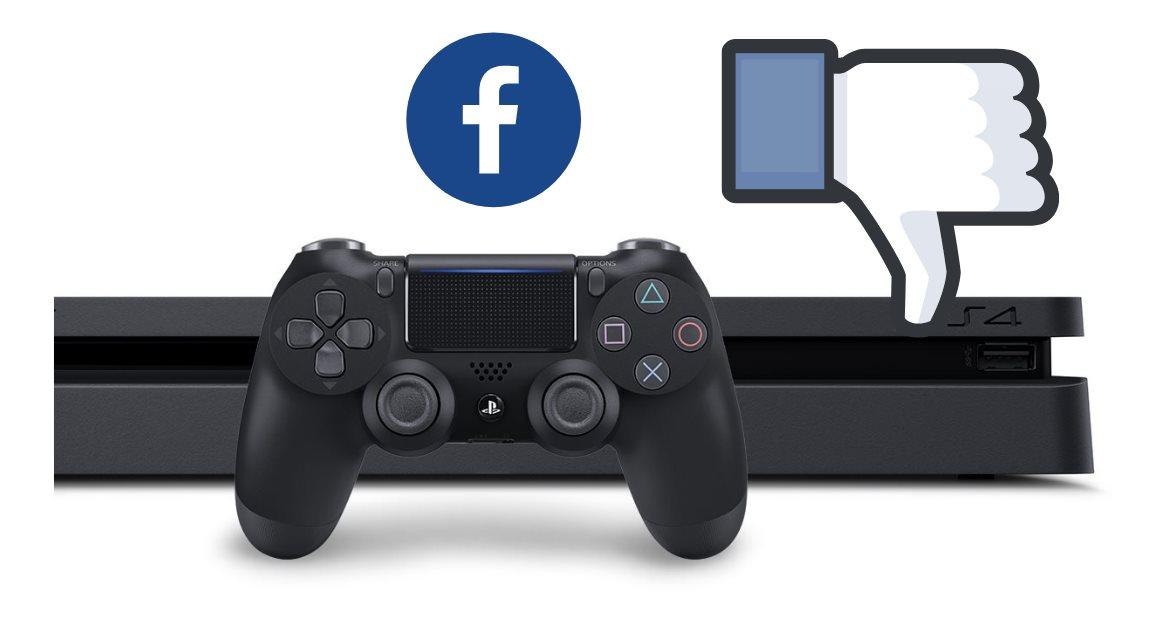 Sony elimina la integración de Facebook con la PS 4