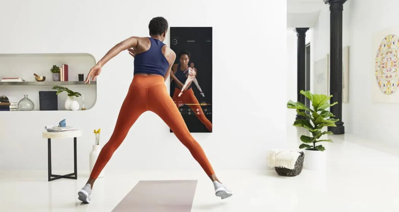 Un espejo de 1.500 dólares que nos ayuda a hacer deporte