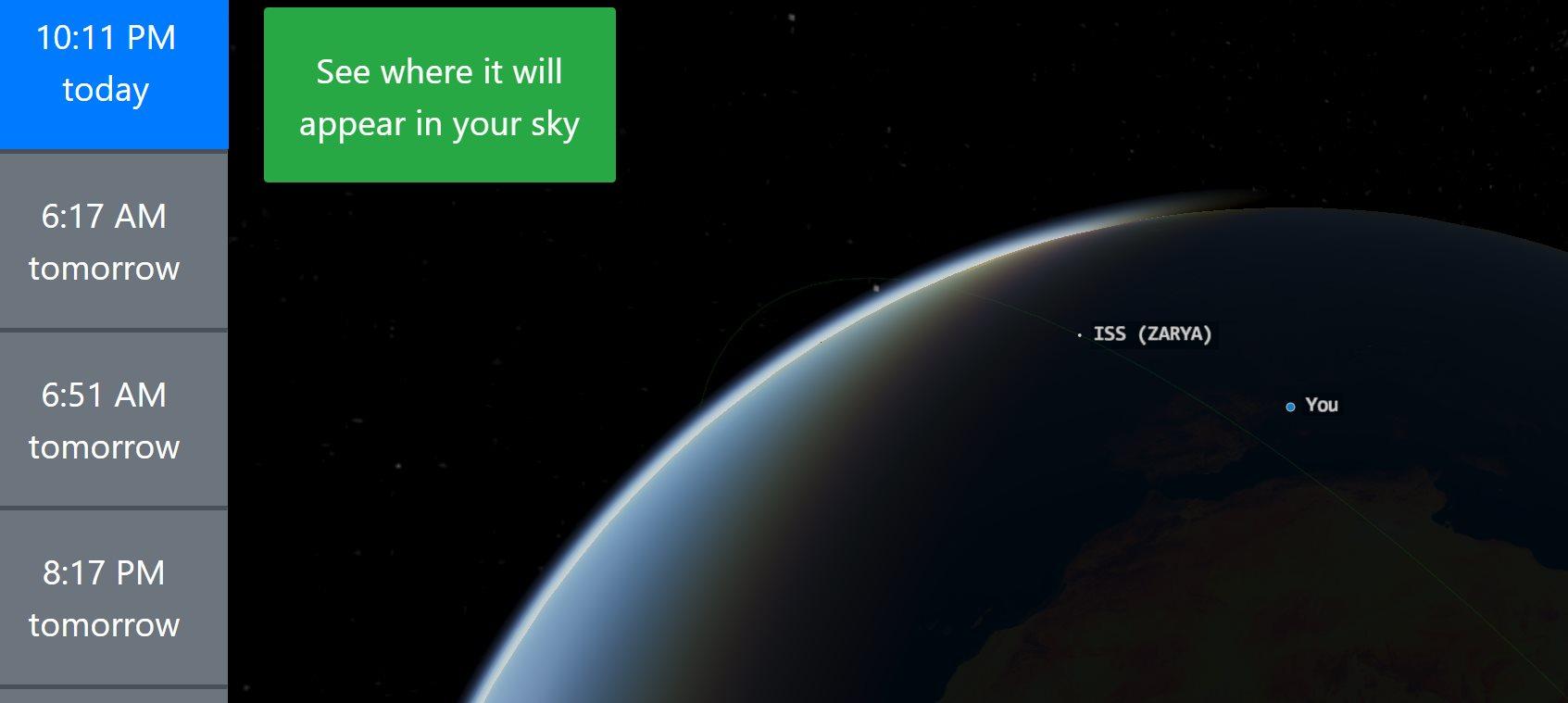 Una web que nos ayuda a ver satélites artificiales en el cielo