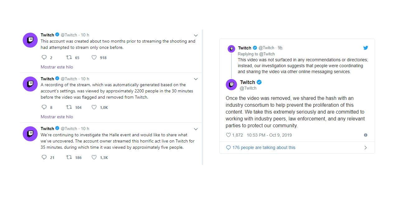 Sobre el atentado transmitido en directo en Twitch