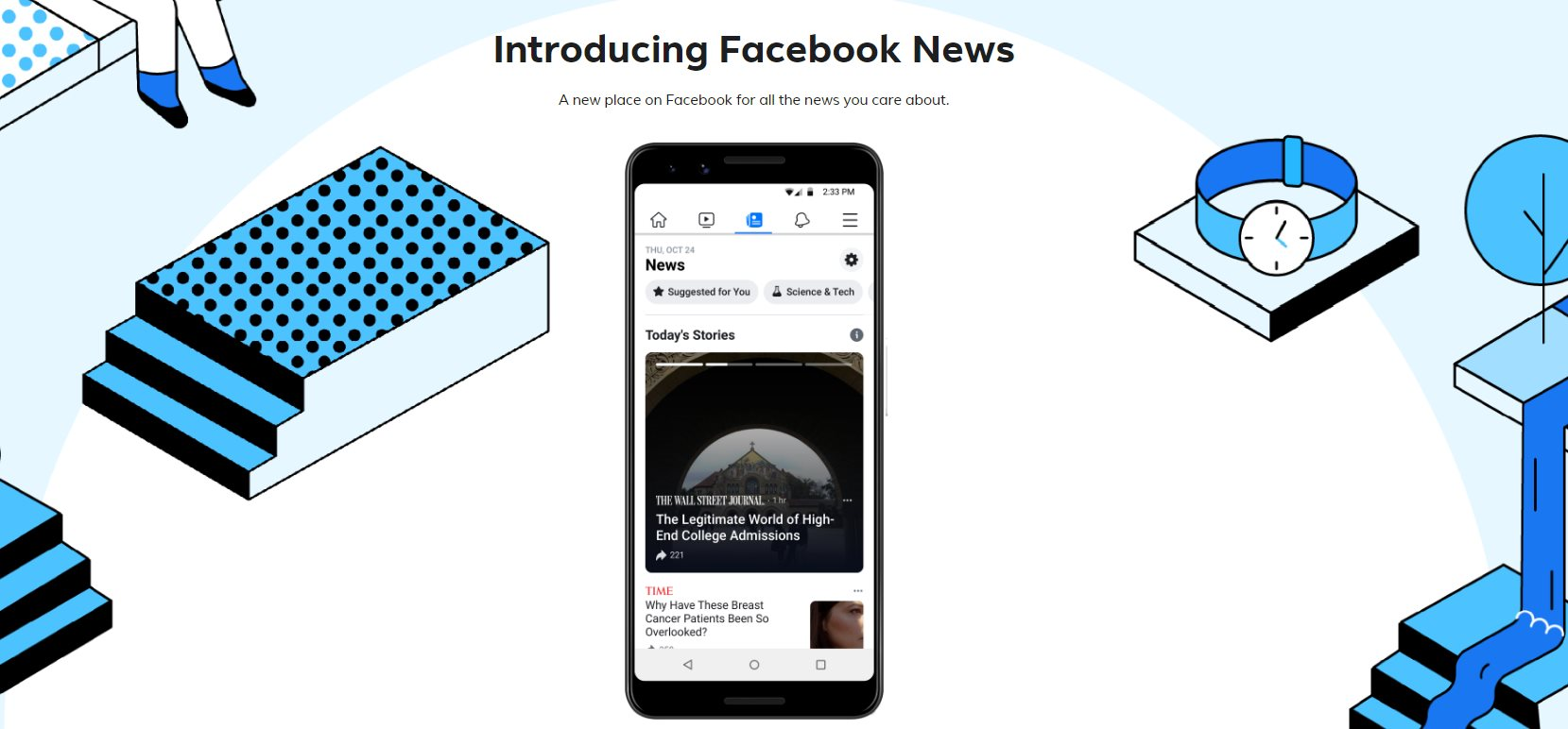 Facebook presenta su portal de noticias: Facebook News