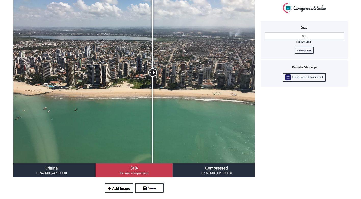 Compress Studio, una web que comprime las fotos más que con TinyPNG