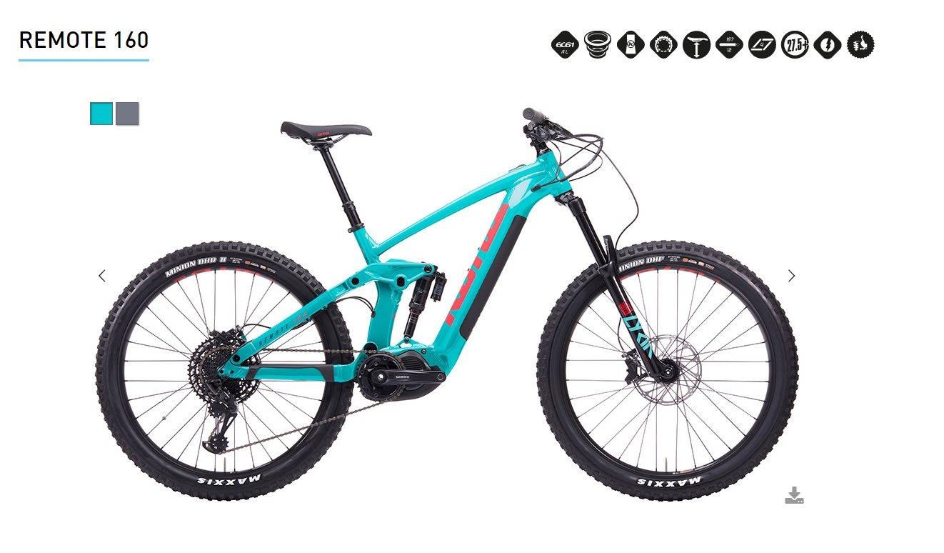 Así es la nueva Kona Remote 160, la bicicleta eléctrica para grandes montañas
