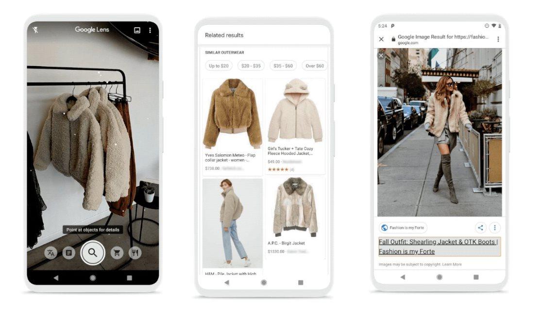 Google Lens se actualiza con un sistema de recomendación de estilos de moda