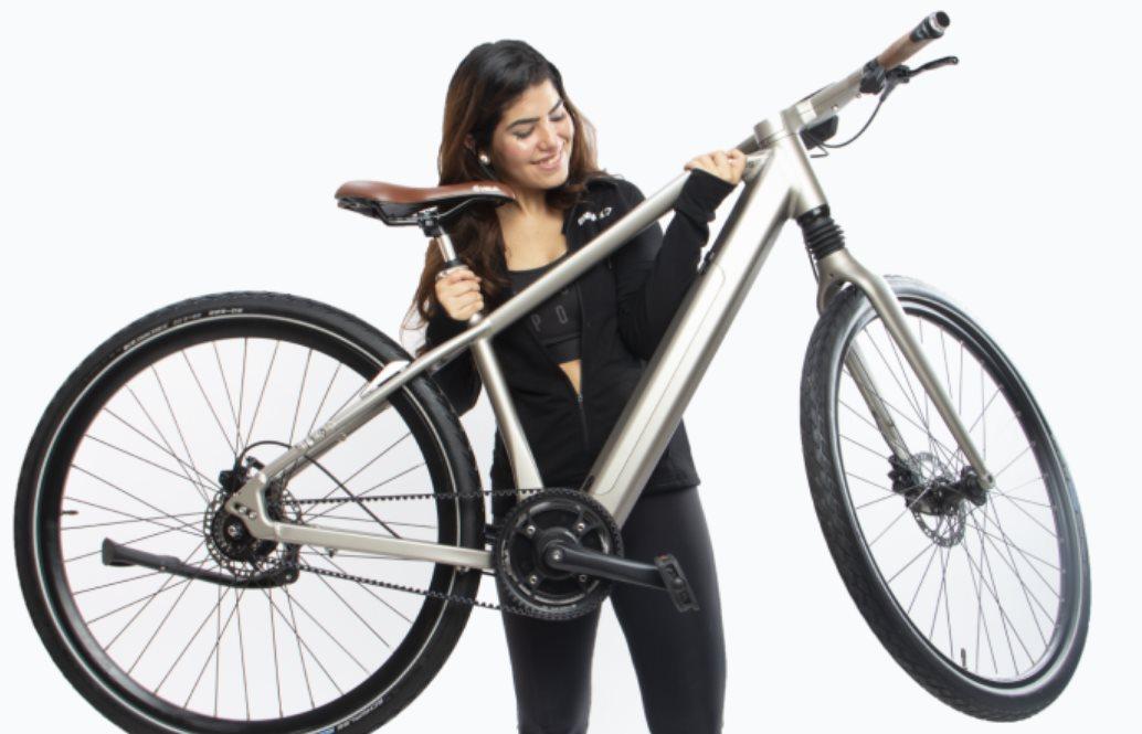 Una bicicleta eléctrica con android que avisa si se acerca un coche por detrás