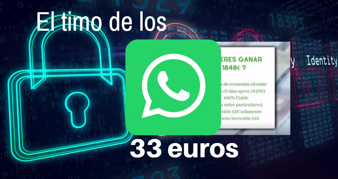 El timo de los 33 euros en Whatsapp